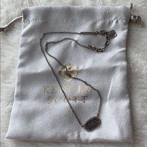 Kendra Scott Silver Drusy Necklace